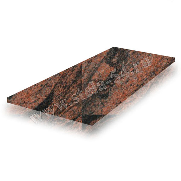 Плита надгробная - коричневая