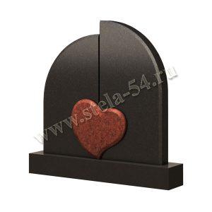 Памятник из гранита с сердцем