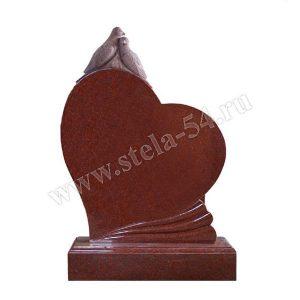 Элитный памятник с голубями