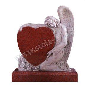 Ангел с сердцем из гранита