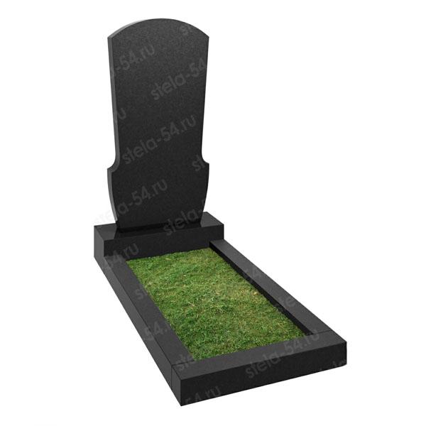 Памятник из черного гранита полированный