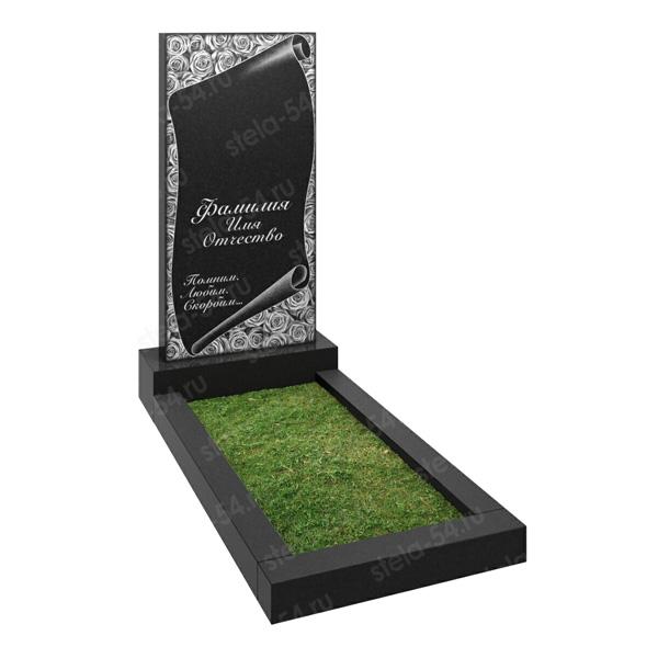 памятник на могилу с гравировкой