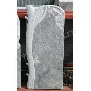 Памятник резной из мрамора в виде березки