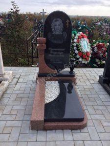 Комплекс из Курдайского гранита с вазой и надгробной плитой